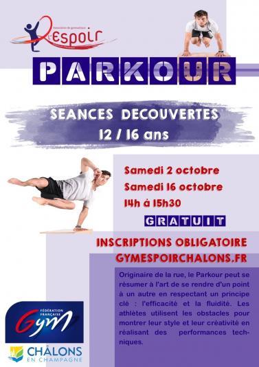 Tract parkour seances decouvertes version aout 2021